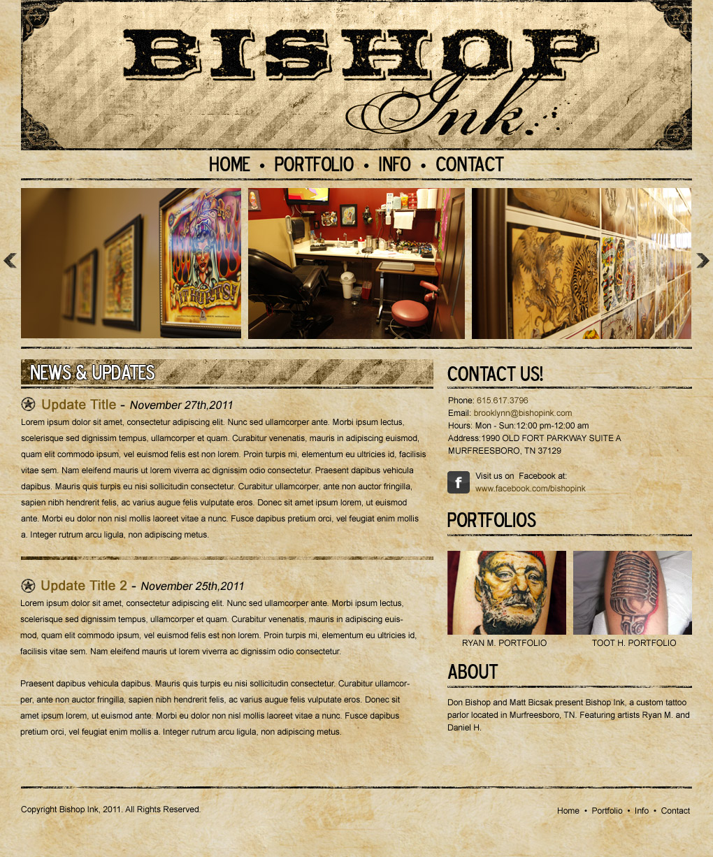 Bishop Ink Website