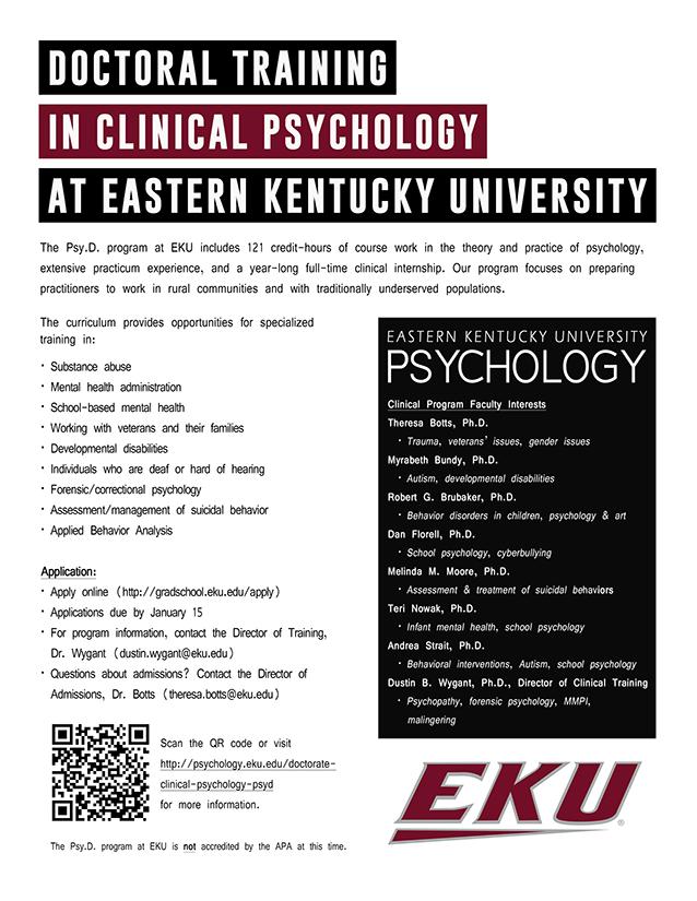 EKU Psychology Flyer